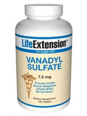 Life Extension Vanadyl Sulfate 7.5mg 100 Tabs