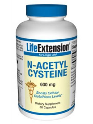 Life Extension N-acetyl Cysteine 600 mg 60 Caps