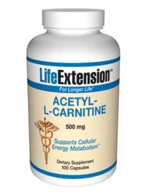 Life Extension Acetyl-L-Carnitine 500mg 100 Caps