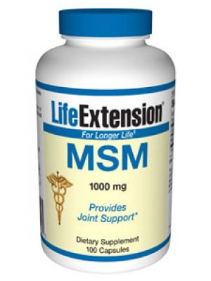 Life Extension MSM (Methylsulfonylmethane) 1000mg 100 Caps