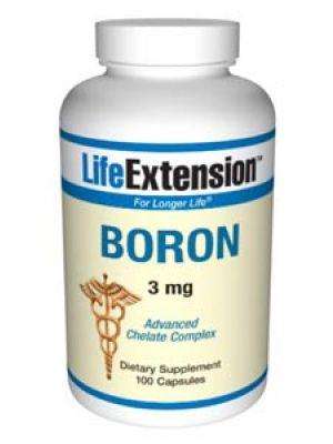 Life Extension Boron 3mg 100 Caps