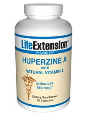 Life Extension Huperzine A with Natural Vitamin E 60 Caps