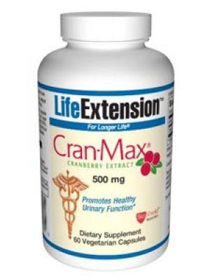 Life Extension Cran-max Cranberry Extract 500mg 60 Vegecaps