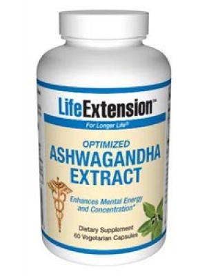Life Extension Optimized Ashwagandha Extract (stimulant free) 60 Vegecaps