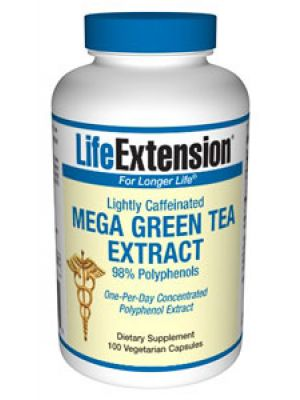 Life Extension Mega Green Tea Extract (lightly caffeinated) 100 Vegecaps