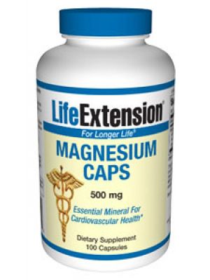 Life Extension Magnesium CAPS 500mg 100 Vege Caps