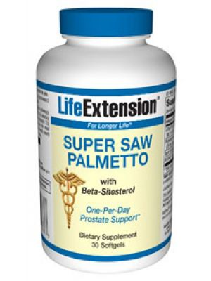 Life Extension Super Saw Palmetto with Beta-Sitosterol 30 Softgels
