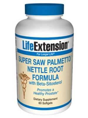 Life Extension Super Saw Palmetto/Nettle Root Formula with Beta-Sitosterol 60 Softgels