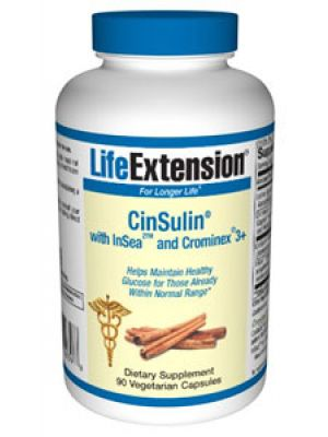 Life Extension Cinsulin with Insea and Crominex 90 Vegecaps