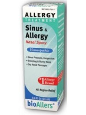 Natra-Bio Bioallers Sinus and Allergy Relief Nasal Spray 0.8 Fl Oz