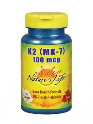 Nature's Life K2 (MK-7) 100mcg 60 Tabs
