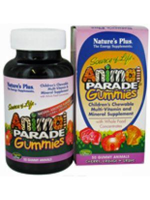 Nature's Plus Animal Parade Gummies Assorted Fruit Flavors 50 Gummies