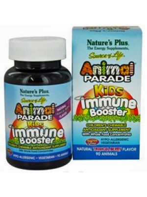 Nature's Plus Animal Parade Kids Immune Booster Tropical Berry 90 Chews