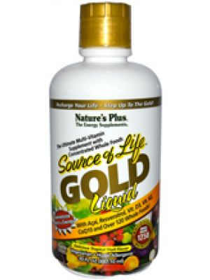Nature's Plus Source of Life Gold Liquid Delicious Tropical Fruit Flavor 30 Fl Oz