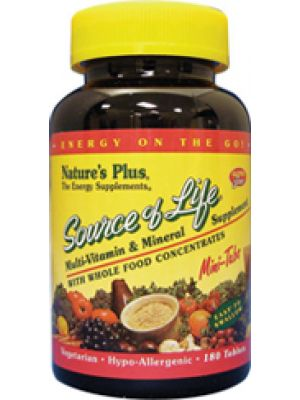 Nature's Plus Source of Life Mini Tabs 180 Tabs