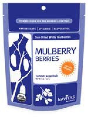 Navitas Naturals Sun-Dried White Mulberry Berries (Certified Organic) 8 Oz