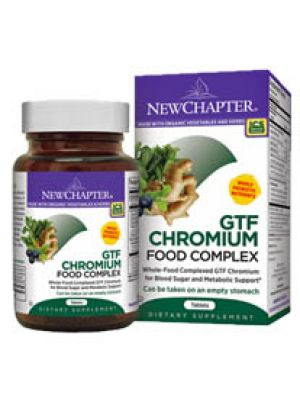 New Chapter GTF Chromium Food Complex 200mcg 30 Tabs