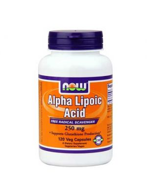 Now Foods Alpha Lipoic Acid 250 Mg 120 Vegetable Capsules