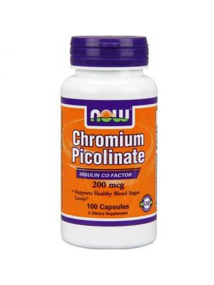 Now Foods Chromium Picolinate 200 Mcg 100 Capsules