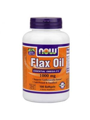 Now Foods Flax Oil Organic 1000 Mg 100 Softgels