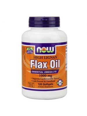 Now Foods Hi-Lignan Flax Oil Organic 120 Softgels