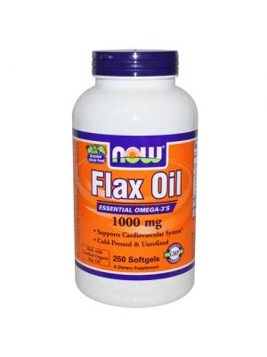Now Foods Flax Oil Organic 1000 Mg 250 Softgels