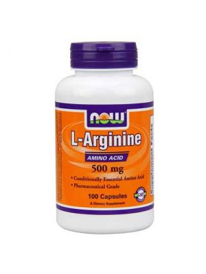 Now Foods L-Arginine 500 Mg 100 Capsules