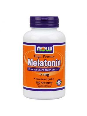 Now Foods Melatonin 5 Mg 180 Vegetable Capsules
