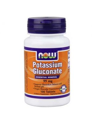 Now Foods Potassium Gluconate 99 Mg 100 Tablets
