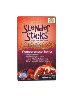 Now Foods Slender Sticks Pomegra Berry 12 Pack