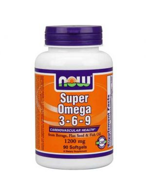 Now Foods Super Omega 3-6-9 1200 Mg 90 Softgels