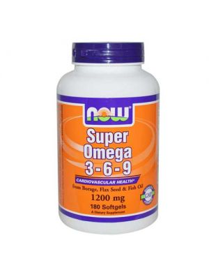 Now Foods Super Omega 3-6-9 1200 Mg 180 Softgels