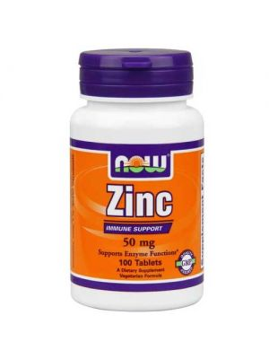 Now Foods Zinc Gluconate 50 Mg 100 Tablets