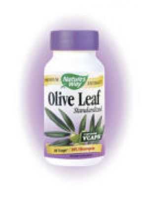 Nature's Way Olive Leaf Standardized 12% Oleuropein 60 Vege Caps