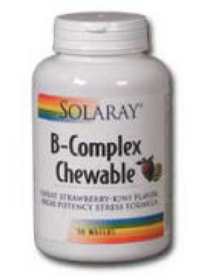 Solaray B-Complex Chewable Strawberry Kiwi Flavor 50 Wafers