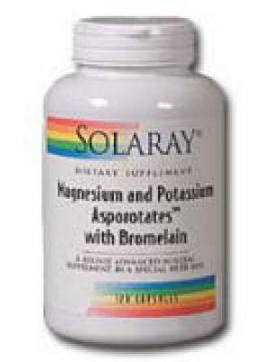 Solaray Magesium & Potassium Asporotates w/ Bromelain 120 Caps