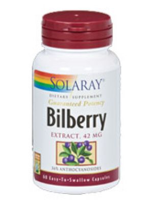 Solaray Bilberry Extract 42mg 60 Caps