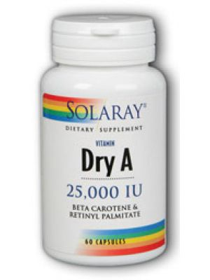 Solaray Emulsified Dry Vitamin A 25,0000IU 60 Caps