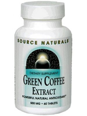 Source Naturals GCA Green Coffee Bean Extract 500mg 60 Tabs