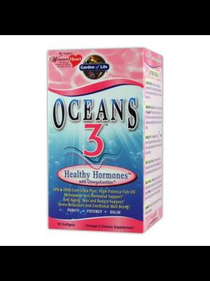 Garden of Life Oceans 3 Healthy Hormones w/OmegaXanthin 90 Gels
