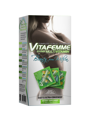 VITAFEMME gives you all of the essential vitamins you need and a wide range of active components to help you with all aspects of your life. We have included key ingredients like Ginseng and Echinacea to help support your immune system.