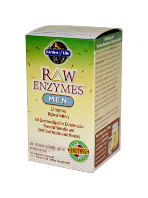 Garden of Life Raw Enzymes Men 90 Vege Caps