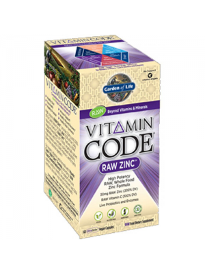 Garden of Life Vitamin Code Raw Zinc 60 Vege Caps