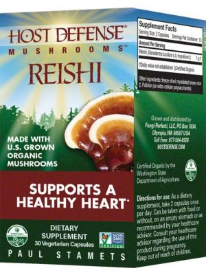 Fungi Perfect Host Defense Reishi 30 Vege Caps