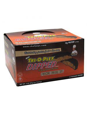 Chef Jay's Tri-O-Plex Dipped Cookies Peanut Butter Kup 3 oz. (85g)
