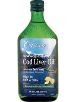 Carlson Norwegian Cod Liver Oil Lemon 500ml
