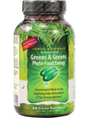 Irwin Naturals Greens and Greens Phyto-Food Energy 60 Softgels