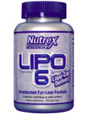 Nutrex Research Lipo 6 Accelerated Fat-Loss Formula 120 Liqui-Caps