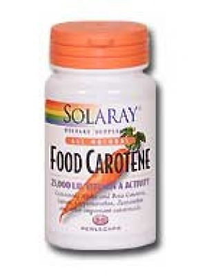 Solaray Food Carotene 25,000 IU (All Natural) 100 Perlecaps