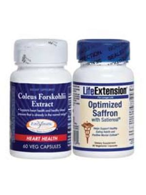 As Seen On TV Appetite Suppressing Stack (Forskolin & Satiereal Saffron Extract)